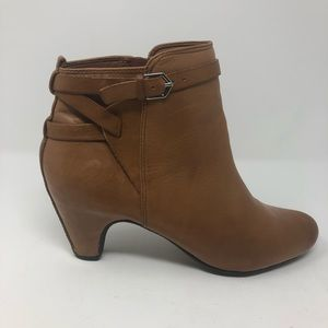 Sam Edelman Heel Ankle Boots Medium Tan Size 8.5